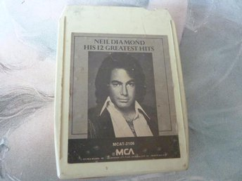 NEIL DIAMOND, HIS 12 GREATEST HITS,  KASSETTBAND, 8-TRACK