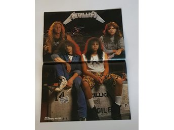 Metallica / Testament 1987 doublesided poster