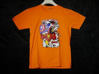 Barn T-Shirt - Avengers - Orange - Strl XXL