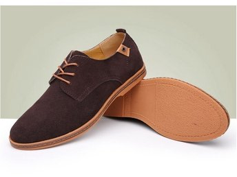 men's casual shoes strl 43 oxford suede brun skor