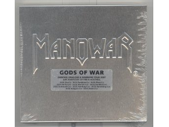 MANOWAR - GODS OF WAR LIMITED EDTION STEELBOOK (CD+DVD) / NY/ UTGÅNGEN