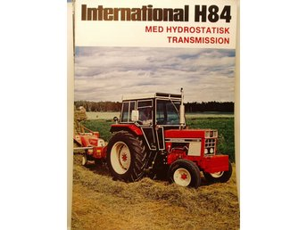 Broschyr Traktor IH..International Harvester H 84......1979.