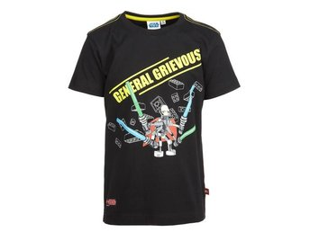 LEGO WEAR T-SHIRT, STAR WARS,'GENERAL GRIEVOUS', SVART (128)
