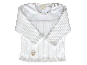 *REA* Vit ribbstickad tröja stl 74/80 - Trelleborg - *REA* Vit ribbstickad tröja stl 74/80 - Trelleborg