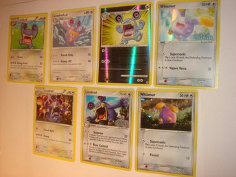 LOUDRED WHISMUR  7 st  NYA  RARE  HOLO  FOIL  ÄLDRE mm.