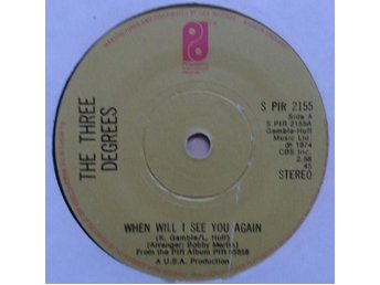 "The Three Degrees title* When Will I See You Again* Funk / Soul, Disco  7"" UK"