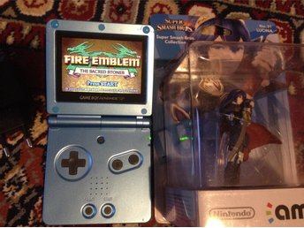 Game Boy Advance SP 101 AGS Backlit + Fire emblem + Amiibo
