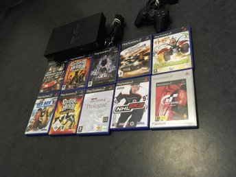 PLAYSTATION 2 PAKET MED 10 SPEL