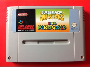 Super Mario All Stars + Mario World SNES Super Nintendo