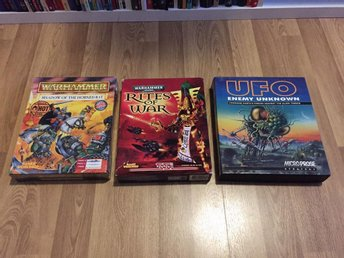 Warhammer Shadow of the Horned Rat, Rites of War, UFO Enemy Unknown bigbox