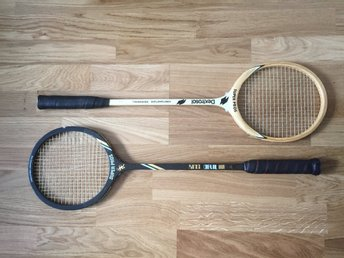 Klassiska tennisracketar retro