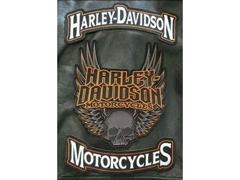ÄKTA, GENUINE - HARLEY DAVIDSON PATCHES , ETT set om 3st patches - Vitå - ÄKTA, GENUINE - HARLEY DAVIDSON PATCHES , ETT set om 3st patches - Vitå