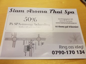 50% rabatt på Alla Spa Massage behandling