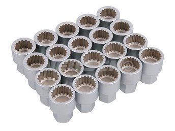 20pc Unique Socket Set  for Porsche Locking Wheel Nuts