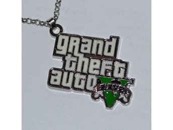 GTA V Logo, Grand Theft Auto 5 Halsband Metall (Smycke) Rock