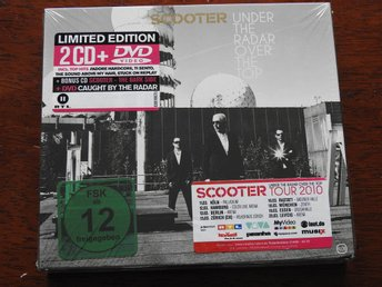 INPLASTAD : Scooter Under The Radar Over The Top 2CD+DVD Limited Edition 2010