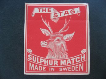 Tändsticksetikette The Stag