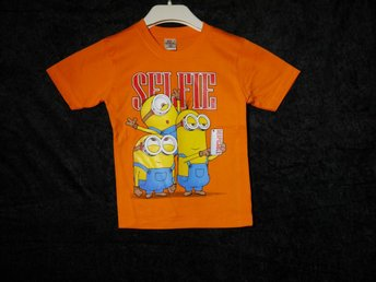 Barn T-Shirt - Minions Selfie - Orange - Strl S
