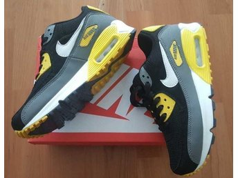 Nike Air Max 90 strl 37 Damskor black with yellow
