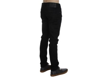 ACHT - Black Wash Cotton Stretch Slim Fit Jeans