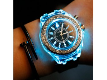 Electronic LED Luminous Crystal Watch