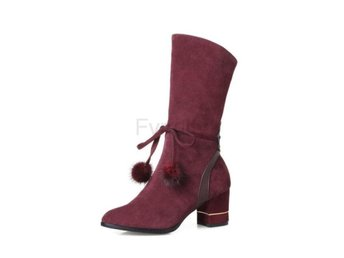 Dam Boots Ladies Spring/autumn Boots Soze 34-43 Wine Red 34