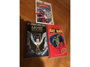 2st Batman och 1st superman vhs
