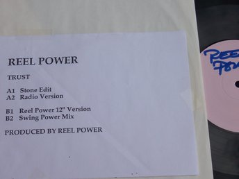 "REEL POWER - TRUST 12"" 1990 SWE / TEST/PROMO TOPPSKICK!!"