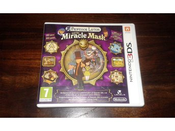 Professor Layton and the Miracle Mask, 3DS, Komplett, Fint skick!