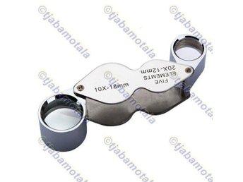 Juvelerare Lupp - Förstoring - Dual Förstoringsglas (10X -18mm 20X -12mm) - Motala - Juvelerare Lupp - Förstoring - Dual Förstoringsglas (10X -18mm 20X -12mm) - Motala