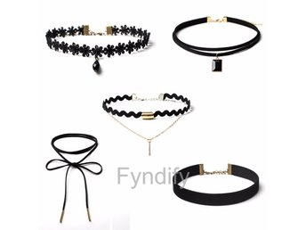 Choker Necklace Set 5Pcs