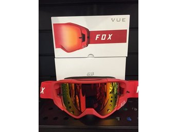 FOX VUE CROSSGLASÖGON RÖD ENDUROGLASÖGON CROSS ENDURO GLASÖGON GOGGLE