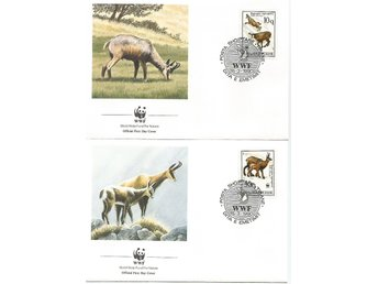 Albanien, Gemsengetter, World wildlife fund 1990, FDC
