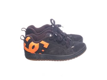 DC, Sneakers, Strl: 35,5, Svart/Orange