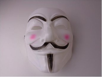 V FÖR VENDETTA / ANONYMOUS MASK MASKERAD, HALLOWEEN
