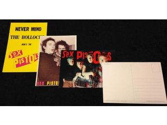 Sex Pistols - Vykort 3st Samlarobjekt - Tibro - Sex Pistols - Vykort 3st Samlarobjekt - Tibro