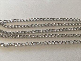 10m kedja i mörk silverfärg 3x5mm - Vikingstad - 10m kedja i mörk silverfärg 3x5mm - Vikingstad