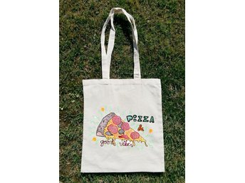 Pizza And Good Vibes Tote Bag - Novi Zagreb - Pizza And Good Vibes Tote Bag - Novi Zagreb