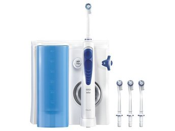 Oral-B Health Center Irrigator BRAUN Oxyjet MD20 0,6 L Vit, Blå Mundusch