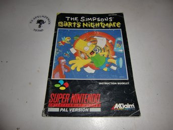 The Simpsons Barts Nightmare manual snes  SCN