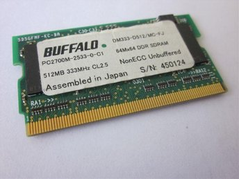 Buffalo PC2700M, DM333-D512/MC-FJ DDR SDRAM 333MHz