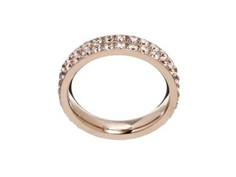 Edblad Glow ring double rose gold XL ringar