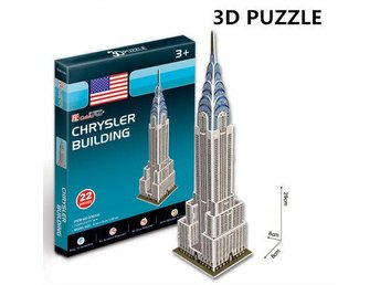 3D Pussel Chrysler Building Jigsaw Mini Chrysler Building DIY Toy