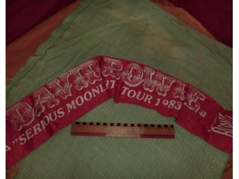 VIMPEL / SCARF DAVID BOWIE SERIOUS MOONLIGHT  TOUR 1983