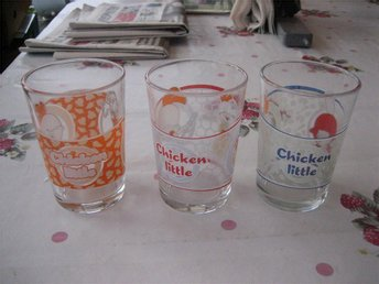 Dricksglas 3 st - Chicken Little - Glas