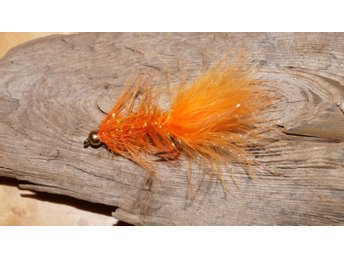 Flugor 5st. BH Wolly Bugger Orange Förtyngd Streamer Handknutna Fri Frakt Krok 4