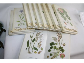 10 st band Nordisk Flora, C.A.M Lindman, 663 illustrationer