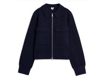Arket Merino Box Jacket Morkbla Cardigan M 417682471 ᐈ Kop Pa Tradera