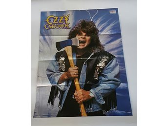 Ozzy Osbourne / Queensryche 1987 doublesided poster