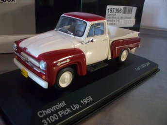 Chevrolet 3100 pick-up 2-färg 1958 limited 1:43, MINT!